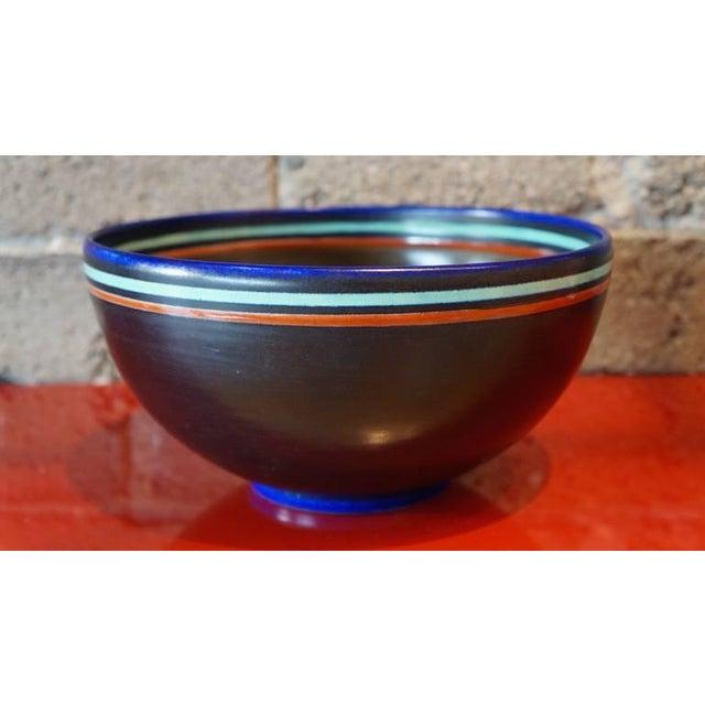 Mid-Century Modern 1950s Mid-Century Modern Ceramic Bowl For Sale - Image 3 of 5