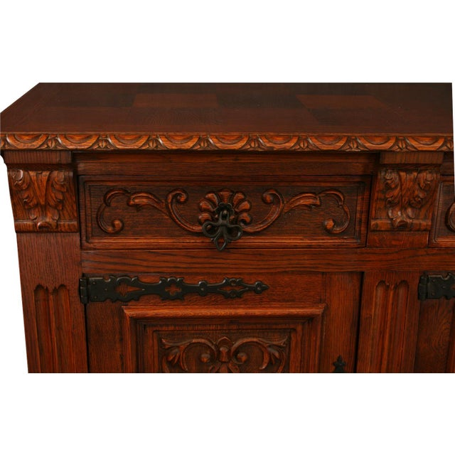 Overall measurements (inches): 46.75H x 94.50W x 22.50D Overall Condition: Used - Good. Shows normal wear to the finish...