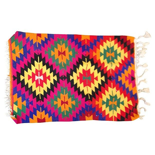 Bright Diamond Kilim Rug - Image 1 of 2