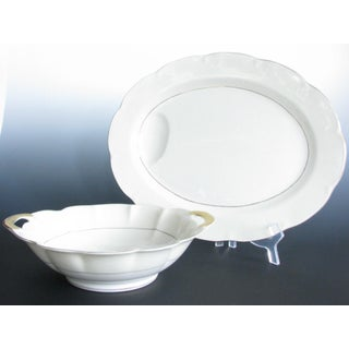 1950s Theodore Haviland New York Leeds Platter and Concord Serving Bowl Preview