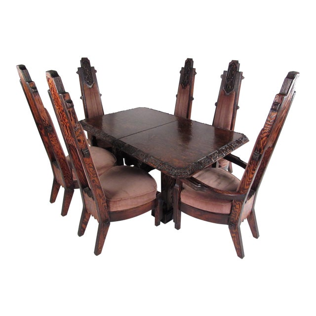 Brutalist Witco Style Dining Set by Willam Westenhaven For Sale