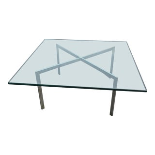 Mies Van Der Rohe Knoll Barcelona Glass X-Base Coffee Table