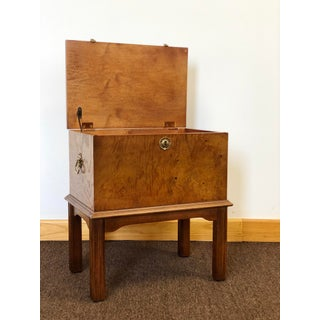 1970s Vintage Lane Burlwood Mahogany Chest Box on Stand Preview