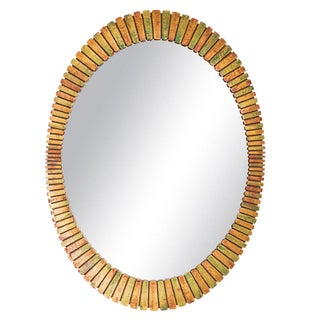 Wood 1960s Mod Mirror For Sale