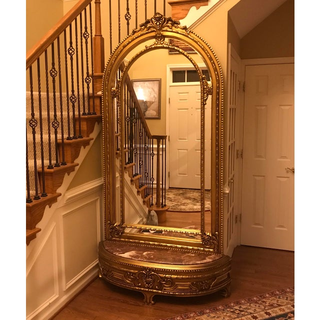 French Louis XV Console With Mirror For Sale In Philadelphia - Image 6 of 7