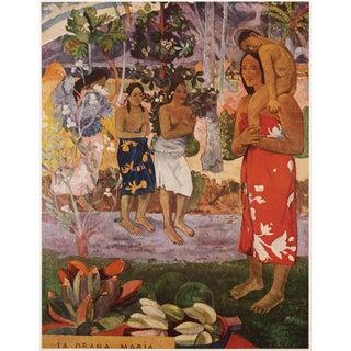 """1950s Paul Gauguin """"La Orana Maria"""", First Edition Lithograph For Sale"""
