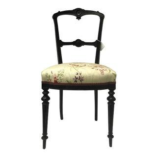 Nepoleon III XIX Century Ebonized Accent Chair