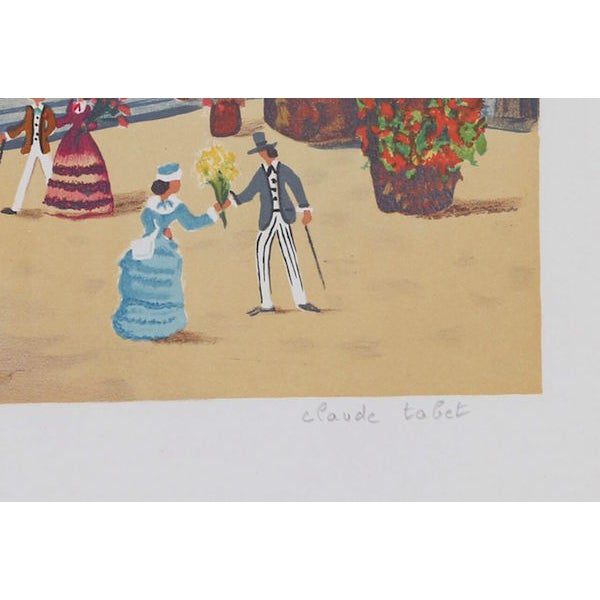 "This lithograph, titled ""Du Descendant les Marches,"" was created by the French artist, Claude Tabet (1924 - 1979), in..."