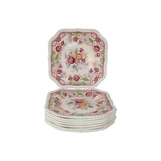 English Ironstone Salad Plates - Set of 8 For Sale