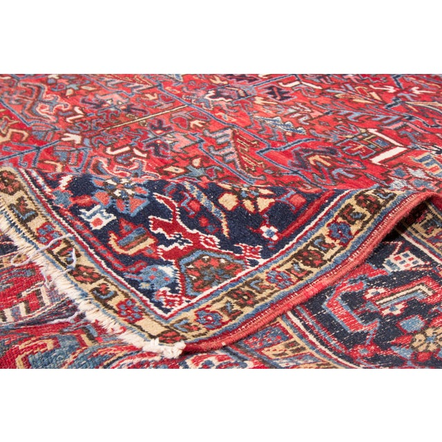 "Vintage Red Apadana Persian Rug - 8'2"" X 12' - Image 3 of 10"
