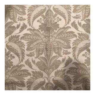 Lewis & Wood Venetian Damask Linen Fabric - 1.5 Yards For Sale