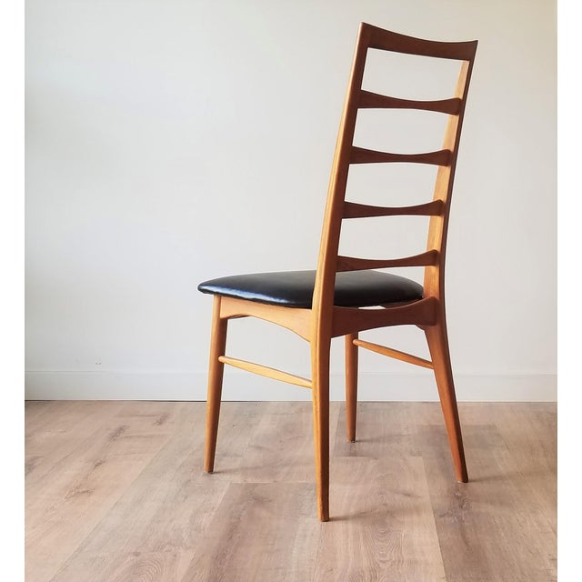 1960s 1960s Niels Kofoed for Koefoeds Hornslet Newly Upholstered Teak Ladder Back Dining Chairs - a Pair For Sale - Image 5 of 13