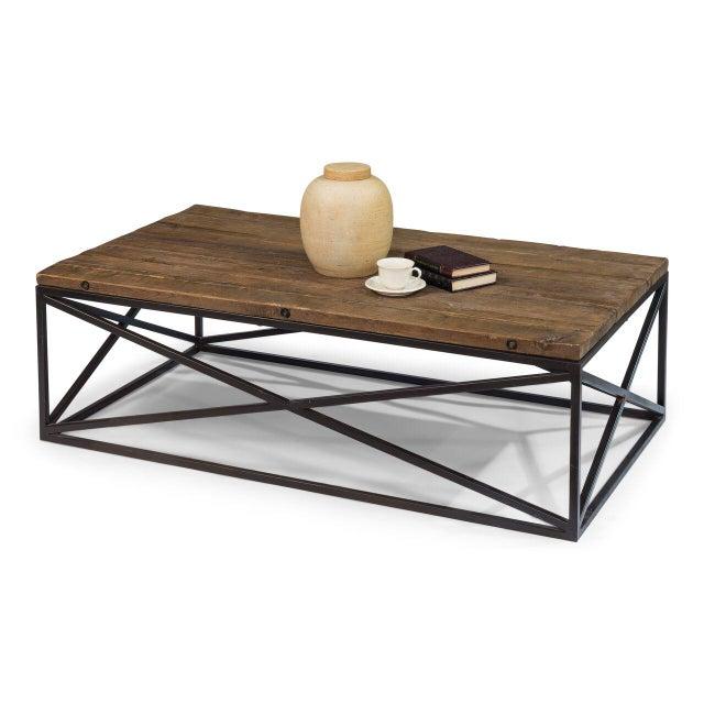Sarreid Ltd Dockworker Board Coffee Table For Sale - Image 5 of 9
