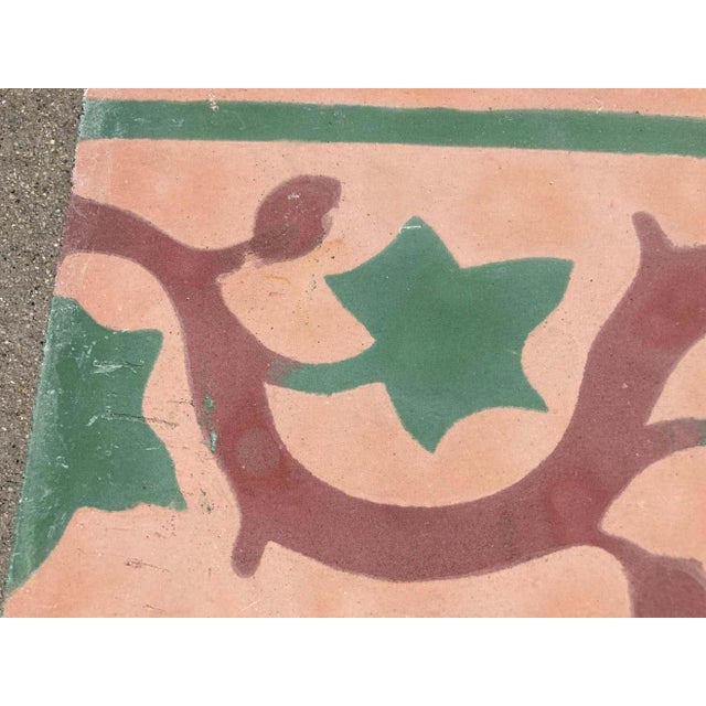 Moroccan Encaustic Cement Tile Sample For Sale In Los Angeles - Image 6 of 9