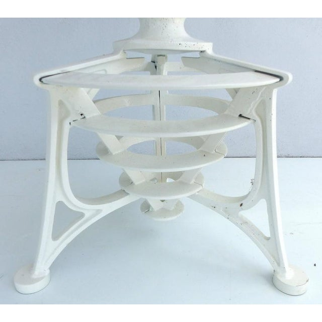 20th Century Industrial Cast Iron Interchangeable Stools to Tables For Sale - Image 4 of 10