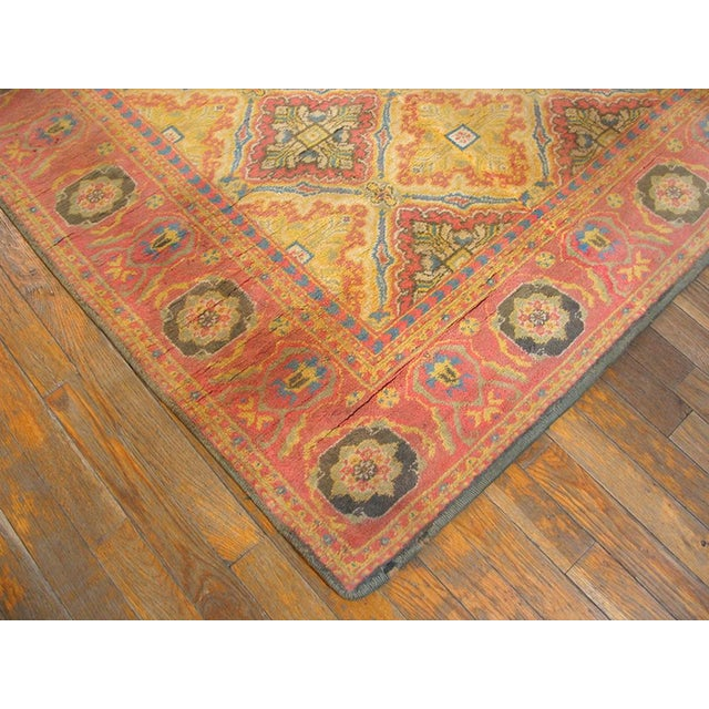 Boho Chic Vintage 1920s Indian Cotton Agra Rug - 4'x7' For Sale - Image 3 of 5