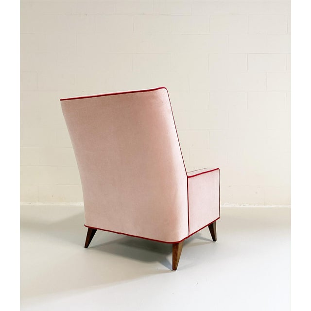 FORSYTH Paul McCobb Style Lounge Chair in Schumacher Velvet and Loro Piana Cashmere For Sale - Image 4 of 8