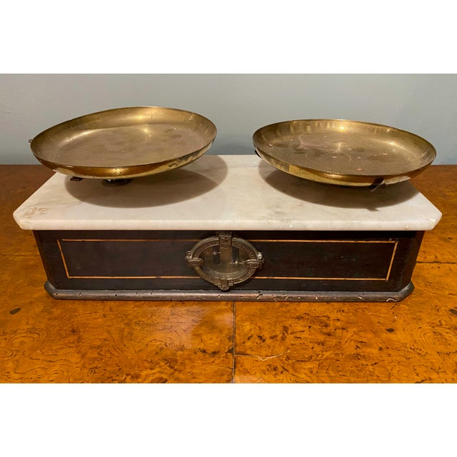 Late 19th Century Napoleon III Marble Balance Scale For Sale - Image 4 of 7
