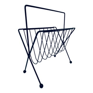 1950s Vintage Tony Paul Steel Wire Magazine Rack For Sale