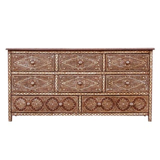 Enchanting Colonial Bone Inlay Dresser For Sale