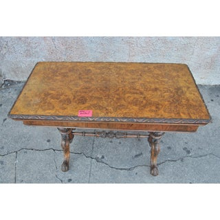 19th Century Victorian Walnut/Burr Walnut English Game/Card Table Preview