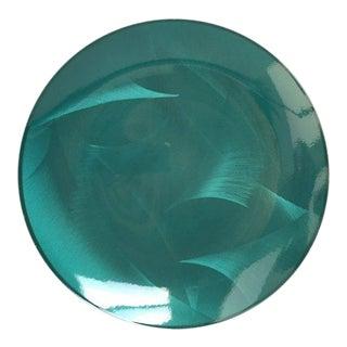 Cathrineholm Teal Blue Enamel Serving Plate