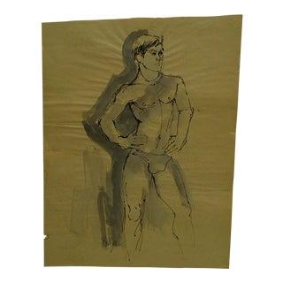 "Korogen ""The Posing Dandy"" Original Drawing / Sketch on Paper For Sale"