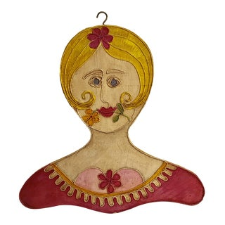 Studio 3D Art Project 2-Sided Painting Lady, 1966 For Sale