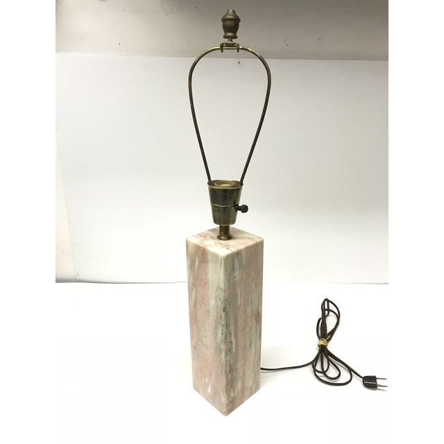 Vermarco Vermont Marble Company Pink Marble Table Lamp.