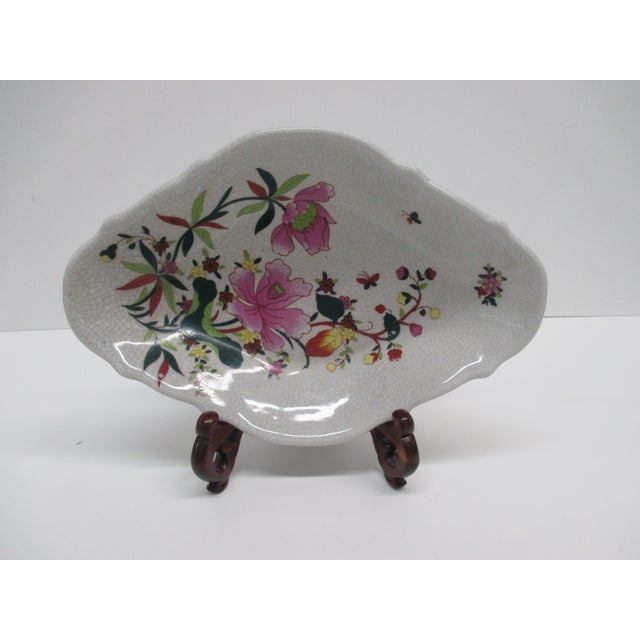 Chinese Chinese Export Ceramic Catchall Decorative Dish For Sale - Image 3 of 6