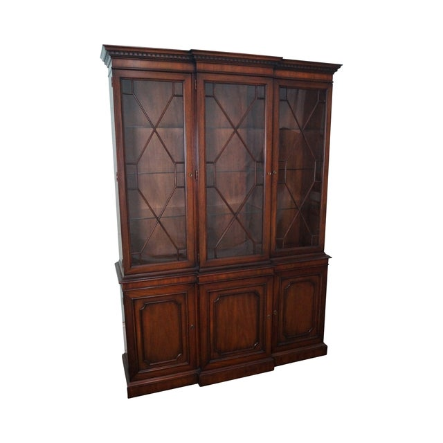 Kindel Mahogany Chippendale Style China Cabinet - Image 1 of 10
