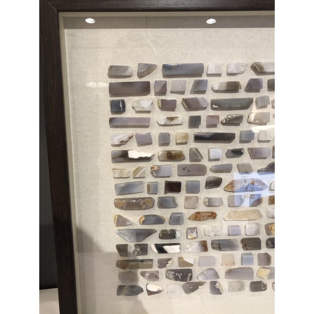 White Toazi Home Agate Shadow Box For Sale - Image 8 of 10