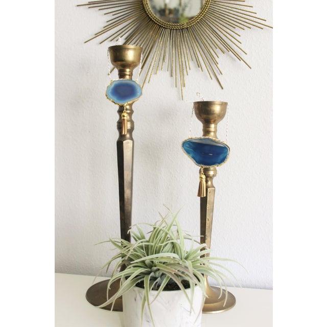 Modern Boho Blue/Cobalt Agate Holiday Ornament - Image 6 of 6