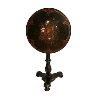 Papier-Mache & Mother of Pearl Tilt Top Table