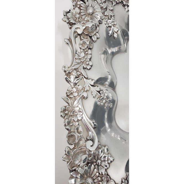 """Theodore B. Starr 14.5"""" Sterling Sandwich Tray C.1880s For Sale In San Francisco - Image 6 of 11"""