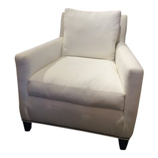 Modern Lee Industries Upholstered Club Chair For Sale