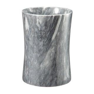 Gray Marble Waste Bin For Sale