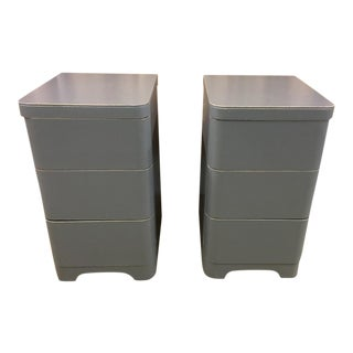 Cavalier Modern Gray Nightstands - A Pair For Sale