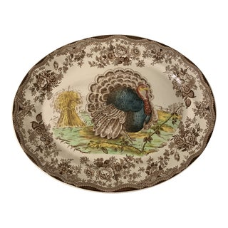 Royal Staffordshire Tonquin Brown Turkey Platter For Sale