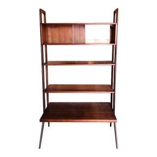Danish Modern Kurt Ostervig Freestanding Teak Bookshelf For Sale