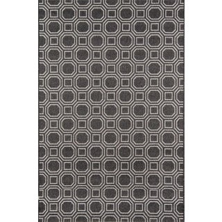 "Erin Gates Downeast Camden Charcoal Machine Made Polypropylene Area Rug 7'10"" X 10'10"" For Sale"