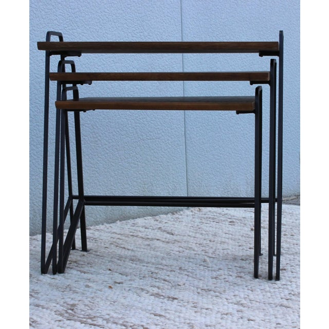 Metal Tony Paul Modernist Nesting Tables For Sale - Image 7 of 11