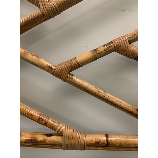 Wood Bent Bamboo Full Size Headboard For Sale - Image 7 of 13