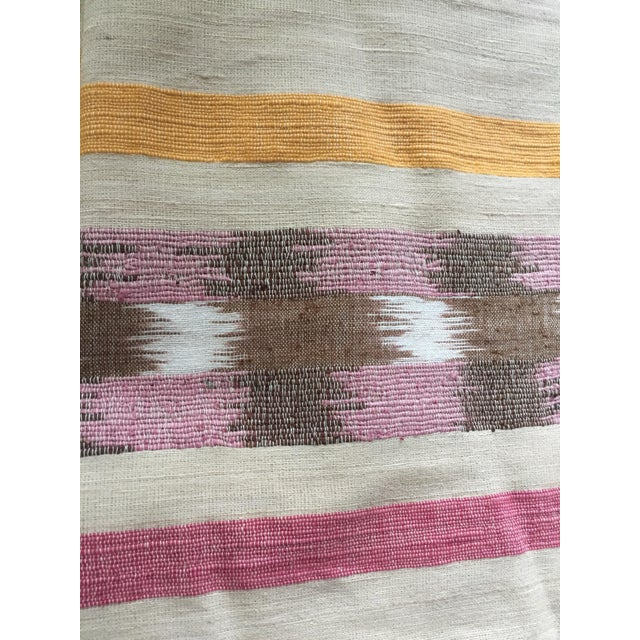 Cotton West Elm Ikat Pillow Covers - A Pair For Sale - Image 7 of 8