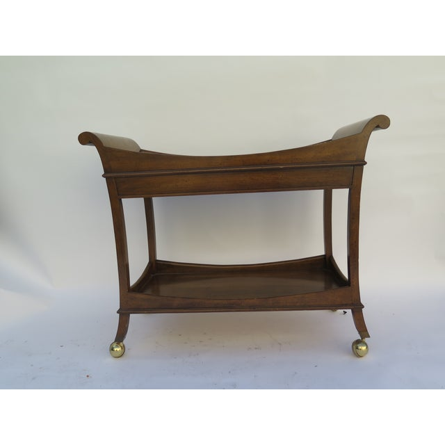 1960's Monumental Maple Wood Bar Cart For Sale In Los Angeles - Image 6 of 6