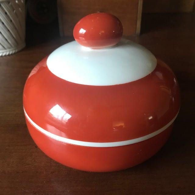1900 - 1909 Antique Beyer Bock German Sienna Ceramic Serving Dish For Sale - Image 5 of 11