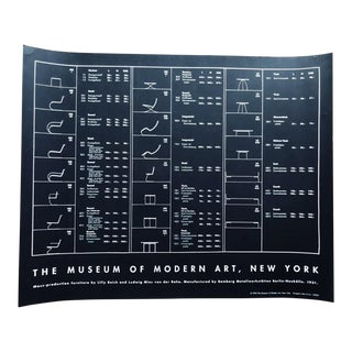 1996 MoMA Bauhaus Meis Van Der Rohe Design Exhibition Poster For Sale