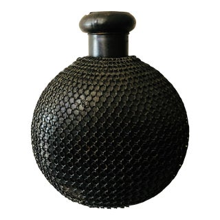 Vintage Black Chainmail Wrapped Urn