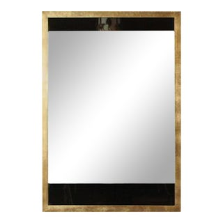 Paul Marra Black and Clear Glass Mirror For Sale