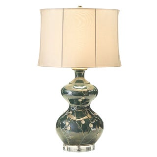 Asian Flower Contemporary Lamp With Shade For Sale